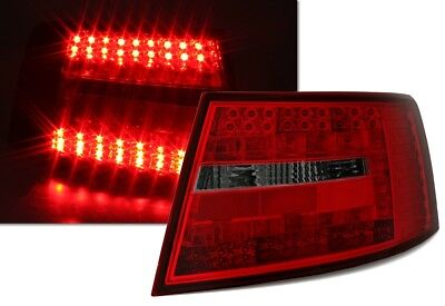 LED RÜCKLEUCHTEN SET in ROT SMOKE für AUDI A6 4F Limo 5/04-9/08 TUNING by MCP EA