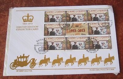 Bahamas The King and Queen Limited Edition Collectors Card 2013 FDC
