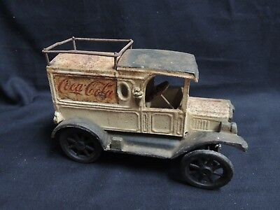 Vintage Cast Iron Reproduction 'Drink Coca-Cola' Delivery Truck
