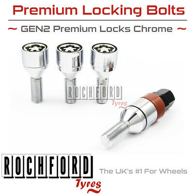 Premium Locking Wheel Bolts 14x1.5 Nuts Tapered For VW Transporter T4 90-04