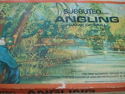 Subbuteo Angling Game - Fishing Game - Subbuteo - Angling - Vintage Board Game