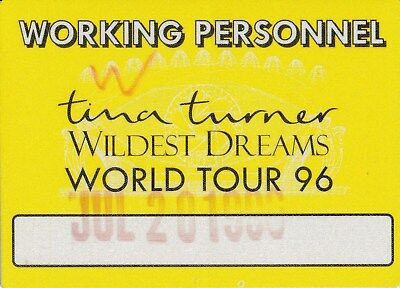 CONCERT TICKET: Tina Turner @ Wembley Stadium 1996 Staff - yellow