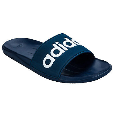 Men&Apos;S adidas Carozoon Lg Slides In Blue From Get The Label