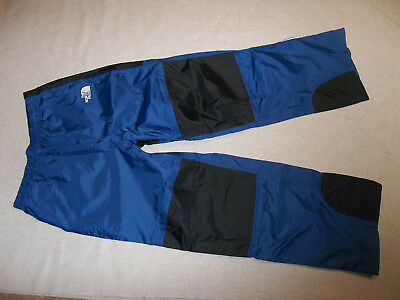 North Face Hyvent Pants Rain Shell Camp Hike Pack Zip Hems Bk Blue Boy's L 14