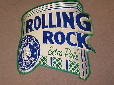 Rolling Rock Extra Pale Tin Metal Beer Sign Man Cave Bar 20 x 20 Latrobe Brewing