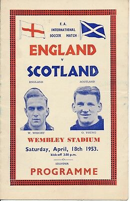 PIRATE PROGRAMME England v Scotland (Home International) 1953