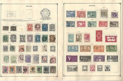 Brazil Collection 1850-1940 on 9 Scott International Pages, Loaded Classics