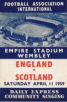 SONGSHEET: England v Scotland (Home International) 1959