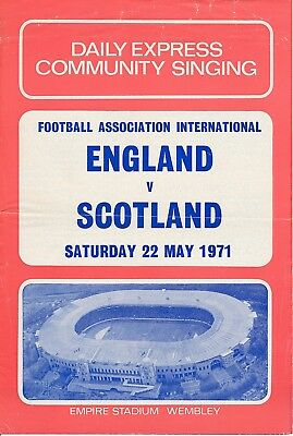 SONGSHEET: England v Scotland (Home International) 1971