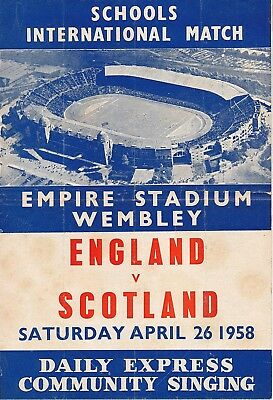 SONGSHEET: England v Scotland (School International) 1958