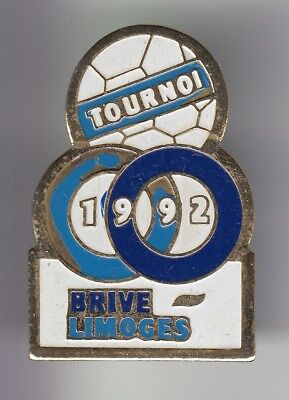 Rare Pins Pin's .. Football Soccer Club Tfe Camion 1992 Brive 19 Limoges 87 ~Dn