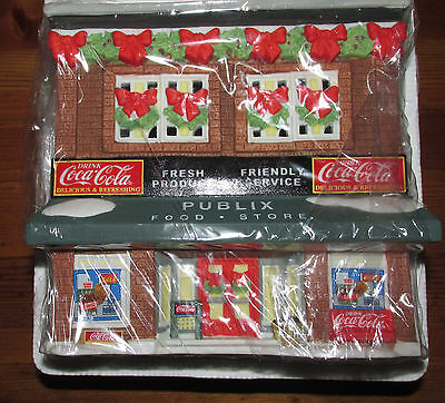 Coca Cola Town Square The Holiday PUBLIX Food Store  Lighted   NIB