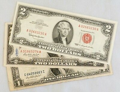 3 Piece Lot of U.S. Currency
