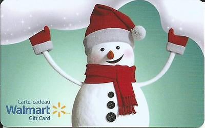 New Snowman 2016 Mint Gift Card From Walmart Canada Bilingual No Value