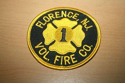 Ärmelabzeichen Feuerwehr Volunter Fire Co.  Florence New Jersey USA Patch