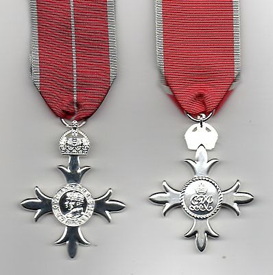 Mbe 2Nd., Type Military Or Civil Issue. A Superb Quality Full-Size Replica