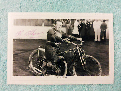 Speedway Photograph - A Rare Al Allison -Originally Signed Odsal Tudors 1952