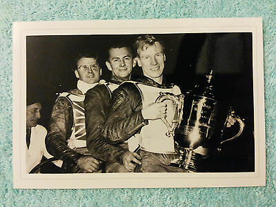 Speedway Photograph - 1956 World Final Winners - Wembley