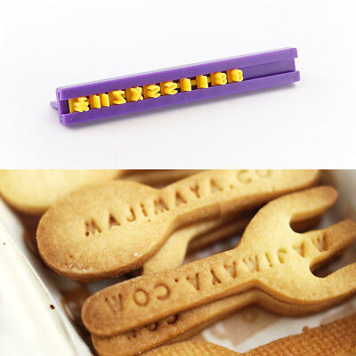 Alphabet  Number Letter Cookie Biscuit Stamp Embossing Cutter Mould  Decor Tool