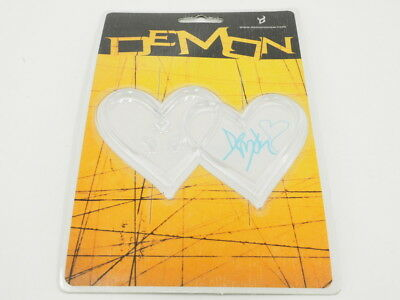 "New! Demon Heart Snowboard Stomp Pad -Clear- (Size: 4.8"" x 3.2"")"