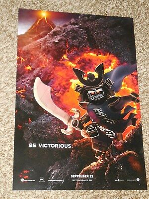 """The Lego Ninjago Movie """"Be Victorious"""" 11.5x17 Promo Movie POSTER Character"""