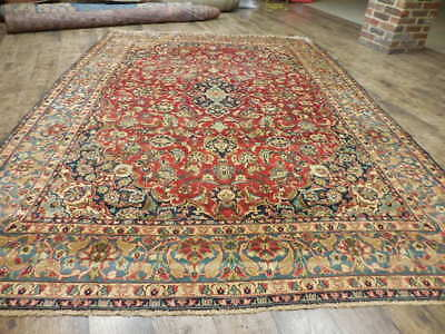 Ca1930s VG DY ANTIQUE PERSIAN CLASSIC SHADSAR KASHAN 7x10 ESTATE SALE RUG