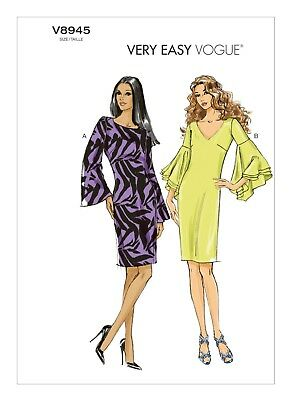 Very Easy Vogue SEWING PATTERN V8945 Misses Dress 6-14 Or 14-22