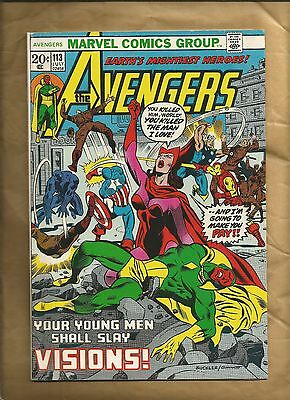 Avengers 113 1973 VG+ scarce Cents Marvel Comics US Comics