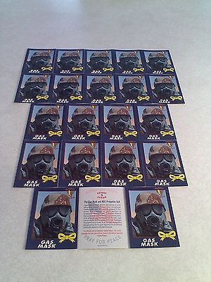 *****Gas Mask*****  Lot of 60 cards.....3 DIFFERENT