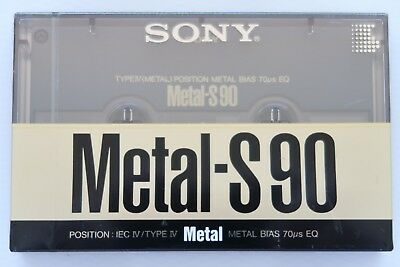 Sony Metal-S 90 Metal Position Type Iv Blank Audio Cassette Tape