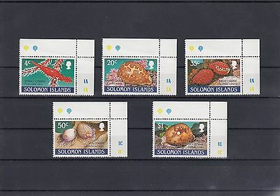 Timbre Stamp 5 Solomon Islands Y&t#696-700 Coquillage Neuf**/mnh-Mint 1990 ~A04