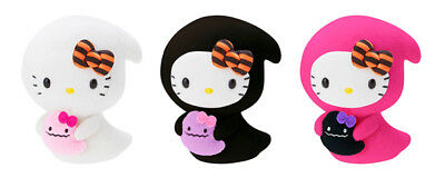 Sanrio Hello Kitty Bean Doll Halloween Ghost Grim Reaper 3 Plush Complete Set