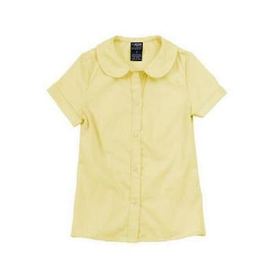 French Toast Girls School Uniform S/S Peter Pan Collar Blouse Top Yellow 5 New