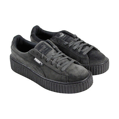 Puma Womens Fenty by Rihanna Gray Creeper Velvet 36446603 Sneakers Shoes