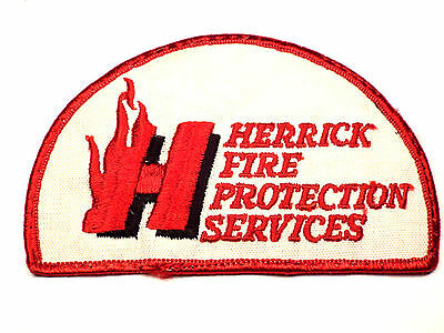 Original Vintage HERRICK FIRE Protection Service Fire Dept. Patch Illinois IL