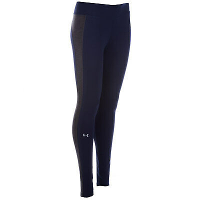 Womens Under Armour Womens ColdGear Armour Leggings in Midnight - 20