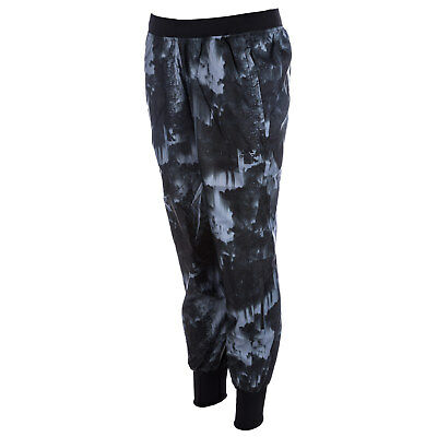 Womens adidas Womens Run Graphic Pants in Black - 8 From Get The Label