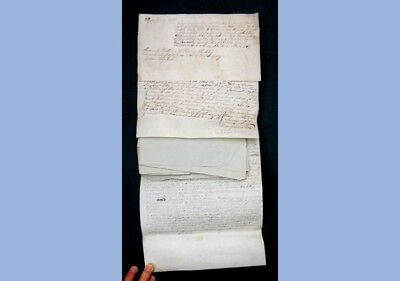 1798 antique EPHEMERA LOT~WALKER/HOCKLEY/WEAVER~COVENTRY,CHESTER PA LAND DEED+