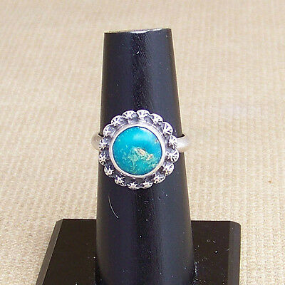 Vintage Turquoise & Sterling Silver  Navajo Type Ring