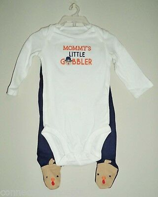 Carters Thanksgiving Infant Outfit - Mommy's Lil Gobbler (SIZES: Newborn - 9 Mo)