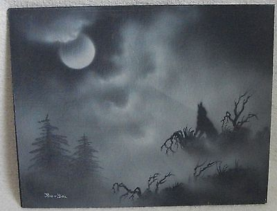 western wolf painting by Bo Bec