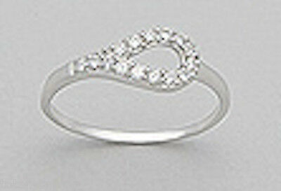 Jewelry & Watches Radient Solid Sterling Silver 7mm Sparkling Cz Teardrop Ring Size 7