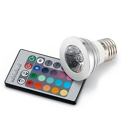 16 Multicolored E27 LED Color Changing Light Bulb Dimmable RBG Lamp Bulb with RC