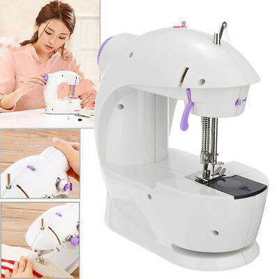 110-240V Mini Multifunction Electric Sewing Machine Double Speed Home EU Plug