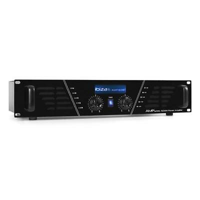 "Ibiza Amp-600 Pa Hifi Audio Dj Stage Amplifier 960W System 19"" 2U Power Amp"