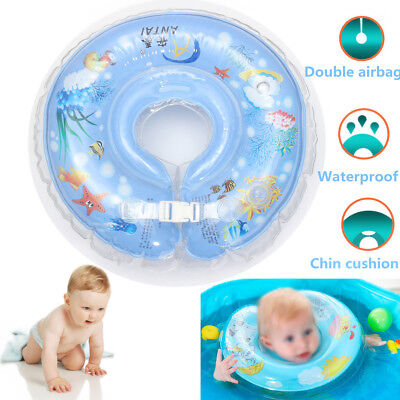 Kid Baby Inflatable Swimming Neck Float Adjustable Ring Safety Aids 0-36 Months