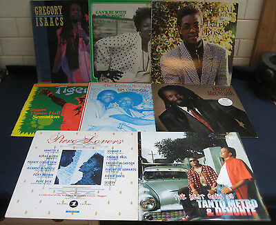 Lot of 8 Reggae, Lovers LPs all in EX to NM condition Gregory Isaacs Pure Lovers