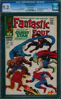 Fantastic Four # 73  Giant Guest-Star Bonanza !  CGC 9.2 scarce book !