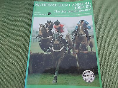 Statistical Record National Hunt Annual  - 1992/93