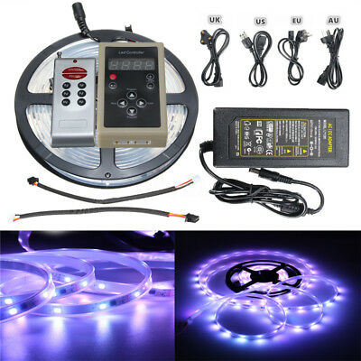 Dream Color 5M 5050 SMD RGB 6803 IC LED Strip Light FR Remote Waterproof